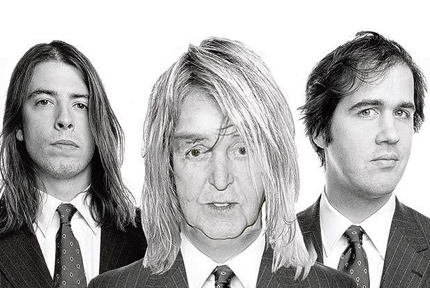 All apologies: Paul McCartney performs with the remaining members of Nirvana