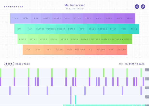 Sampulator is a Garageband-style sequencer for your browser