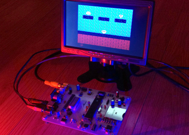 This synth generates both 8-bit sound and visuals