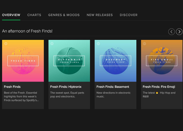 Spotify launches Fresh Finds playlists for undiscovered artists
