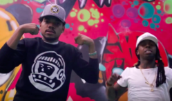 Chance The Rapper brings DJ Khaled, Young Thug and more to a skate park party in 'No Problem' video