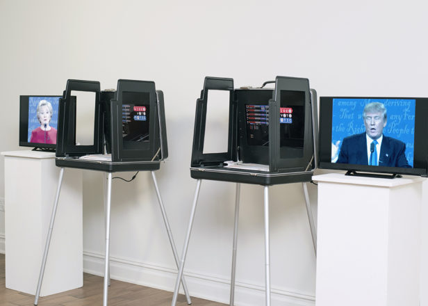 Someone turned a vintage voting machine into a musical instrument