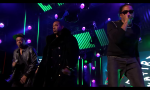 A Tribe Called Quest and Busta Rhymes perform 'Dis Generation' on Jimmy Kimmel Live!