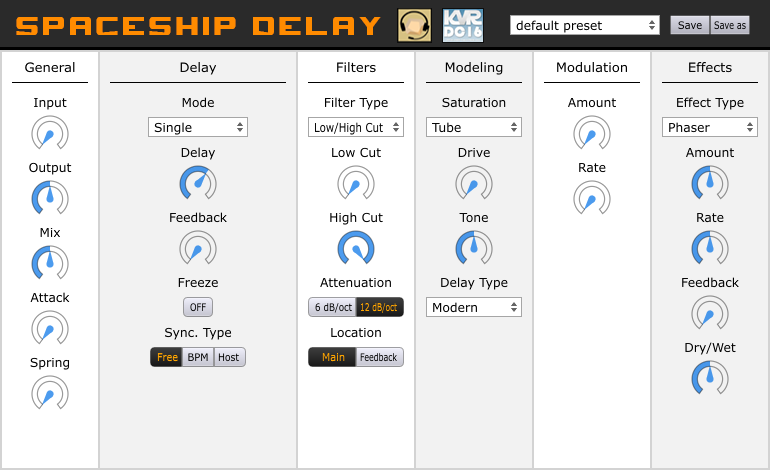 Spaceship Delay is an awesome free plug-in based on Korg's