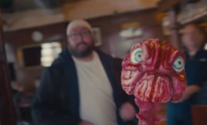 Keith from The Office chases a giant brain in Paul White's 'Accelerator'
