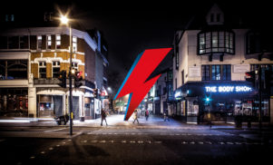 David Bowie fans are crowdfunding a huge lightning bolt statue for his London birthplace