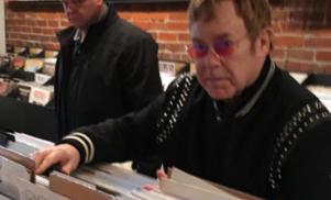 Elton John just spent a fortune on vinyl in Vancouver, loves Tech N9ne