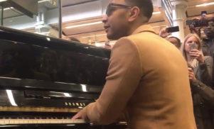 John Legend plays surprise gig at London's St Pancras station