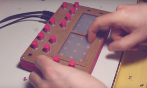 This DIY synth was made with two Nintendo DS touch screens