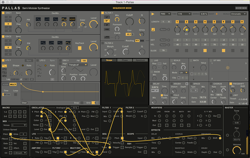 pallas is a new patchable semi modular synth for ableton live. Black Bedroom Furniture Sets. Home Design Ideas