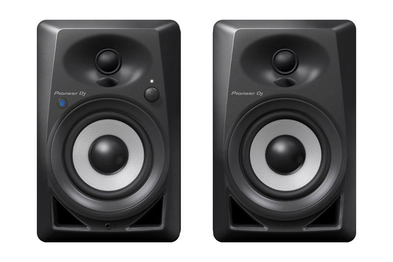 pioneer dj dm bluetooth monitors 40bt studio monitor pair inch connect powered speakers pssl via also
