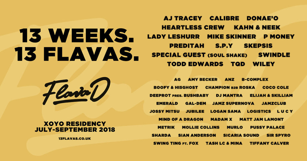 Flava D lines up Wiley, Todd Edwards, Lady Leshurr and more for XOYO residency